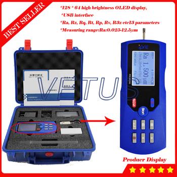 PRSR210 przyrząd do pomiaru chropowatości powierzchni wyświetlacz OLED Surftest profilometr profil 0 025 do 12 5um zakres interfejs USB tanie i dobre opinie PRSR210-eva NoEnName_Null 0 025-12 5μm 440g 140mm*52mm*48mm 0 25mm 0 8mm 2 5mm built-in rechargeable lithium battery 1 year