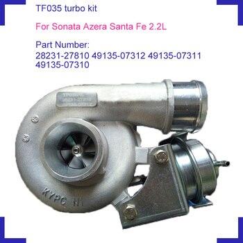 Conjunto de turbo cargadores eléctricos para coche TF035 28231-27810 49135-07312 49135-07311 49135-07310 para Hyundai Sonata Azera Santa Fe 2.2L