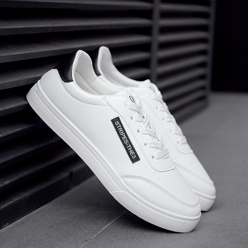 2018 New White Fashion Shoes Men Casual Lace-up Shoes tenis masculino adulto Comfortable Male Walking Shoes 1
