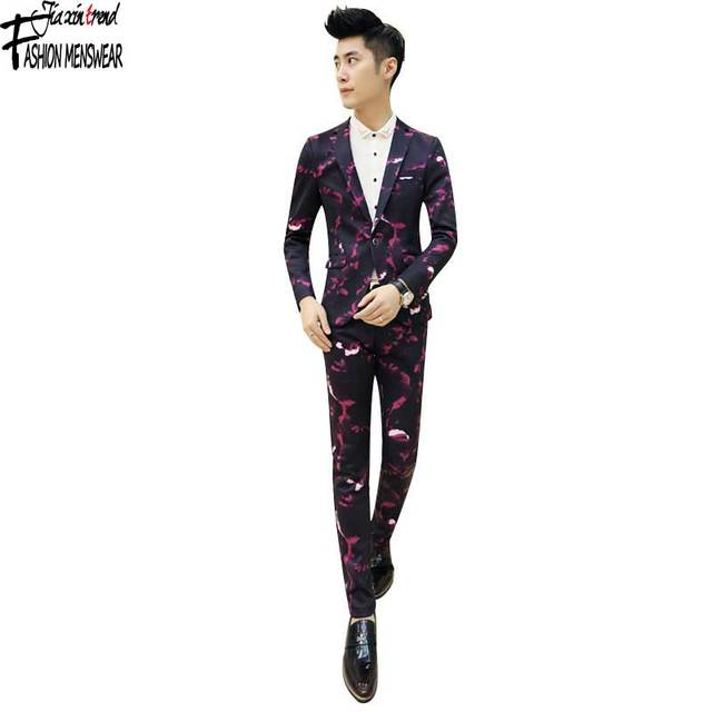 Aliexpress.com : Buy Skinny Men'S Suit Pants Heavyweight Solid ...
