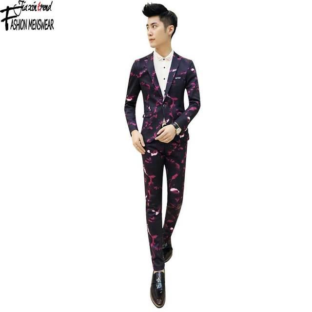 Aliexpress.com : Buy Skinny Men'S Suit Pants Heavyweight Solid