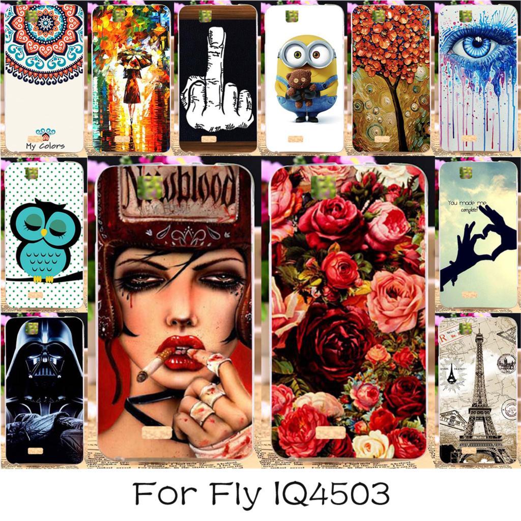TAOYUNXI 22 DIY Soft TPU Silicon Phone Case For Fly Iq4503 Iq 4503 Quad Era Life 6 Life6 Covers Bags Hood Shell Housing