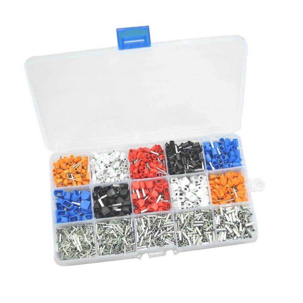 Más nuevo 2340 piezas mezclado 15 modelos Bootlace doble Kit eléctrico alambre Terminal bloque @ 8