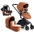 O envio gratuito de carrinho de bebê novo prático liga de alumínio de alta paisagem carrinho de luz multi-purpose all-round triplet
