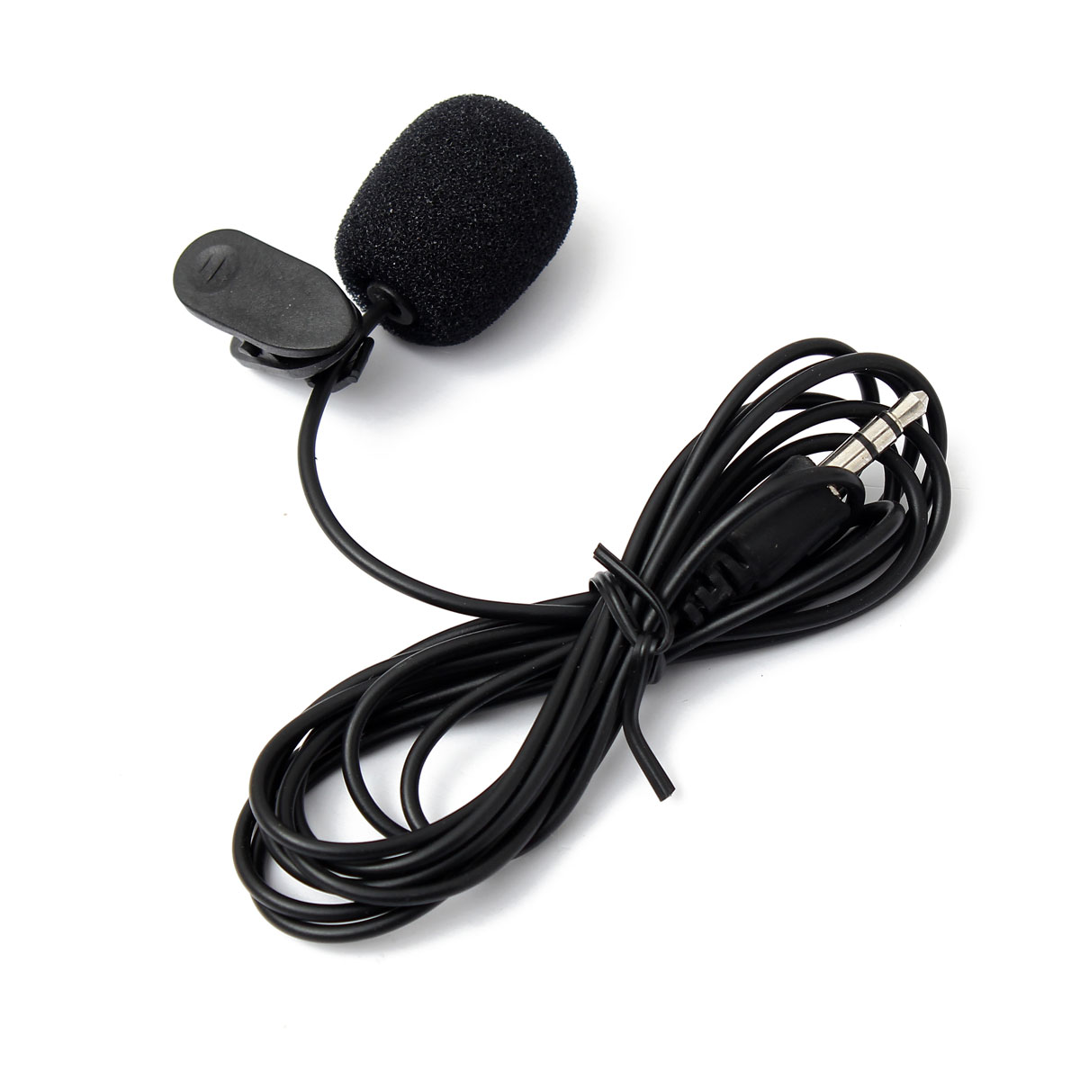 Portable 3.5mm  Mic Microphone External Hands-Free Mini Wired Collar Clip Lapel Lavalier Microphone For PC Laptop