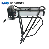 UPP 36V Rear Rack Ebike Battery 36V 10Ah Lithium Electric Bicycle Battery with Double Layer Rack for 500W BBS02 350W 250W BBS01