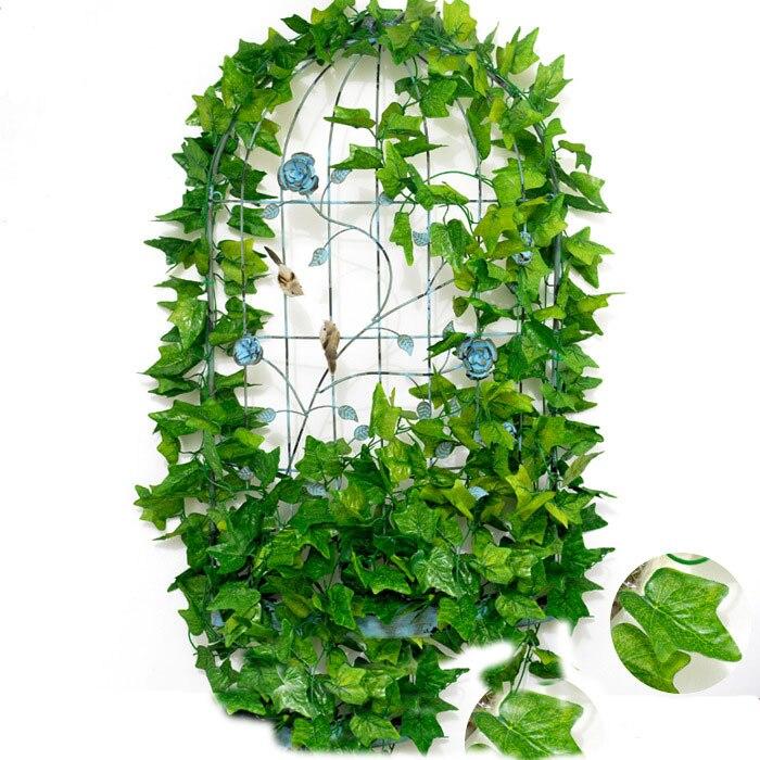 Künstliche Dekorationen 7ft 2 M Blume String Künstliche Wisteria Vine Garland Pflanzen Laub Outdoor Home Hinter Blume Gefälschte Blume Hängen Wand Dekor