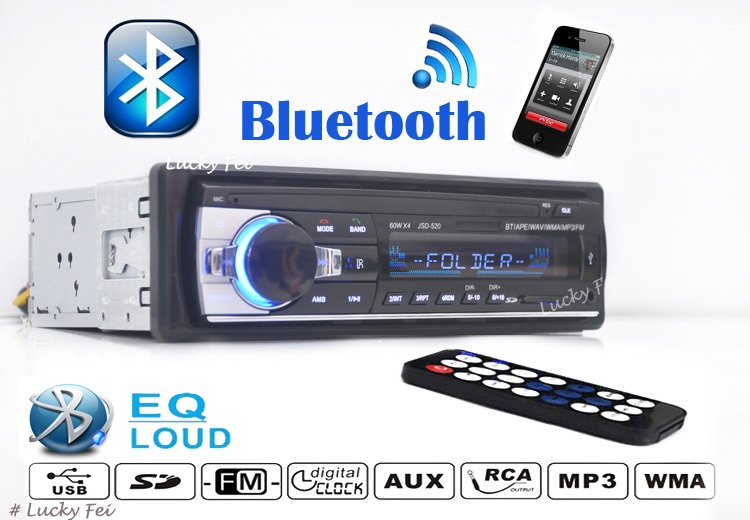 2017 New est Car Stereo MP3 Player,12V Car Audio,FM radio USB/SD/MMC/Remote Control/card Slot, with USB port,Free shipping