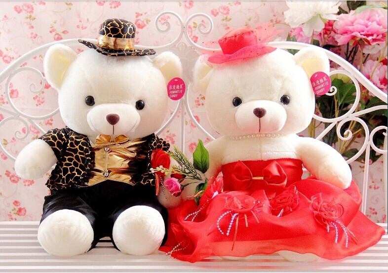 Festive & Party Supplies Strong-Willed 25cm Bear Of Roses Flowers Teddy Bear With Crown Wedding Festival Diy Surprise Wedding Gift For Girl Lover