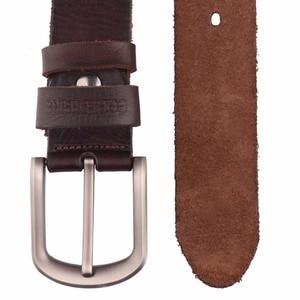 Image 4 - 2017 New men belt top full grain 100% real genuine cowskin leather soft jeans belt TM050