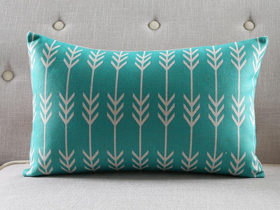 Kussens Blauw Grijs : Nordic decoratie thuis kussenhoes geometrische geel grijs driehoek