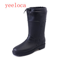Yeeloca Men's Mid barrel rainboots, Fashion, Waterproof, soft and warm dual use Autumn and Winter shoes New winter boots men