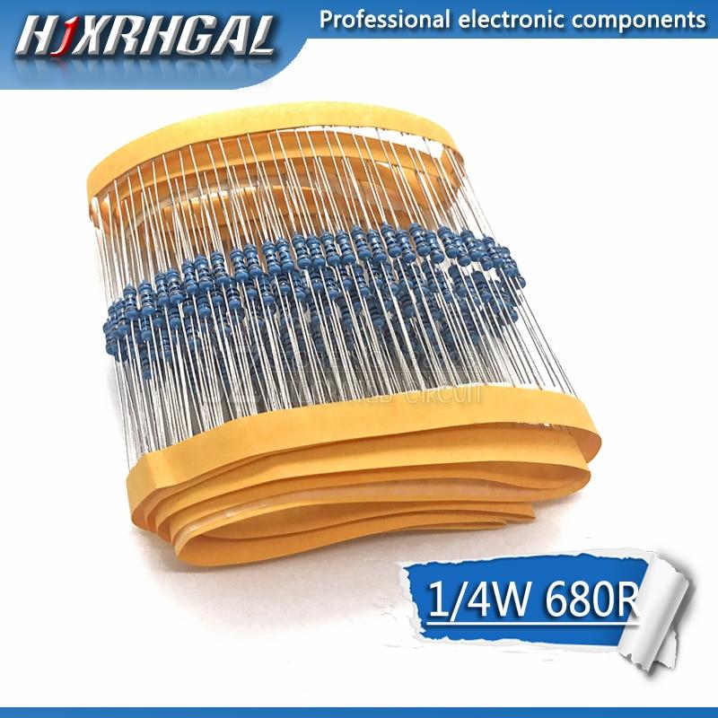10pcs Resistors 680 Ohms 3W 1/% Metal Film Resistors