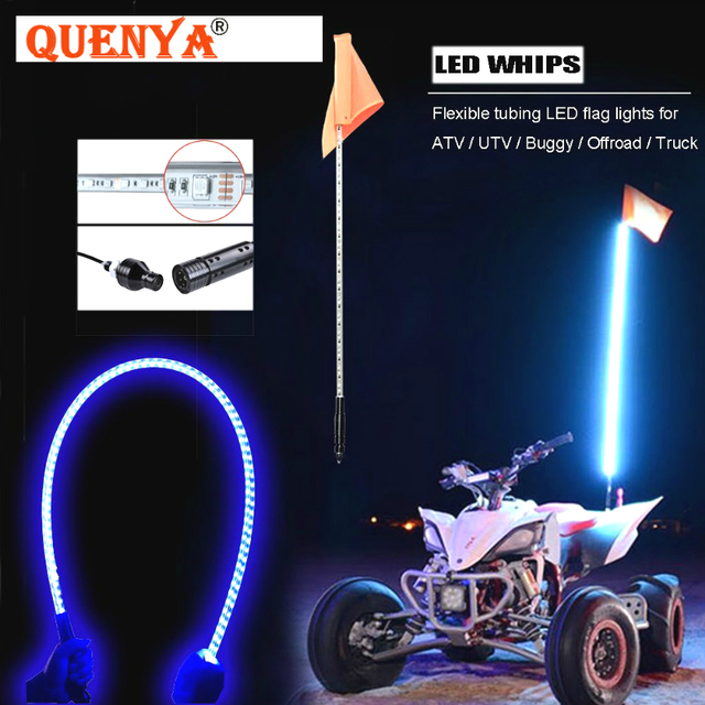 2018 Best Ing 1 5m Led Whip Light 5ft Flag Pole Safety Antenna Lights For Sand Dune Buggy Utv Atv 4x4 Truck Jeep