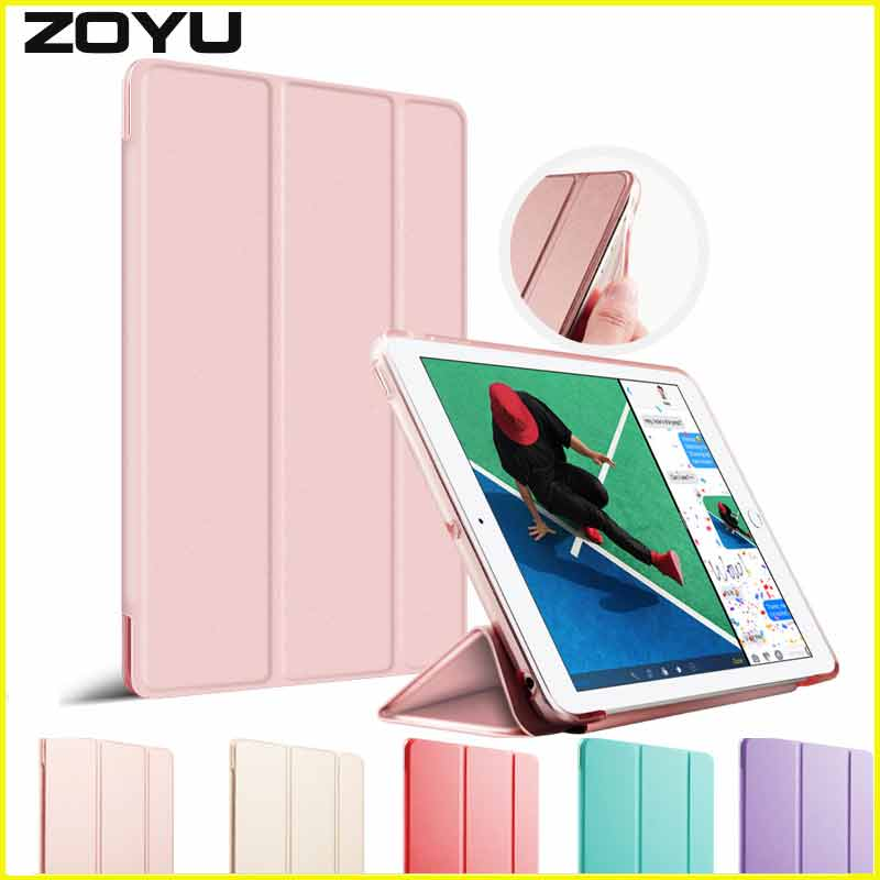 Case for iPad 2017 9.7 inch Soft edge, ZOYU PU Leather+Ultra Slim Light Weight PC Back Cover for 2017 iPad case New model back shell for new ipad 9 7 2017 genuine leather cover case for new ipad 9 7 inch a1822 a1823 ultra thin slim case protector