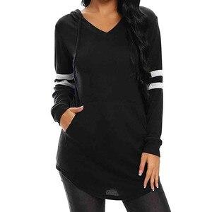 Women Hoodies Sweatshirts Women's Halloween Long Sleeve Solid V-Neck Sweatshirt Casual Pullover Tops Autumn