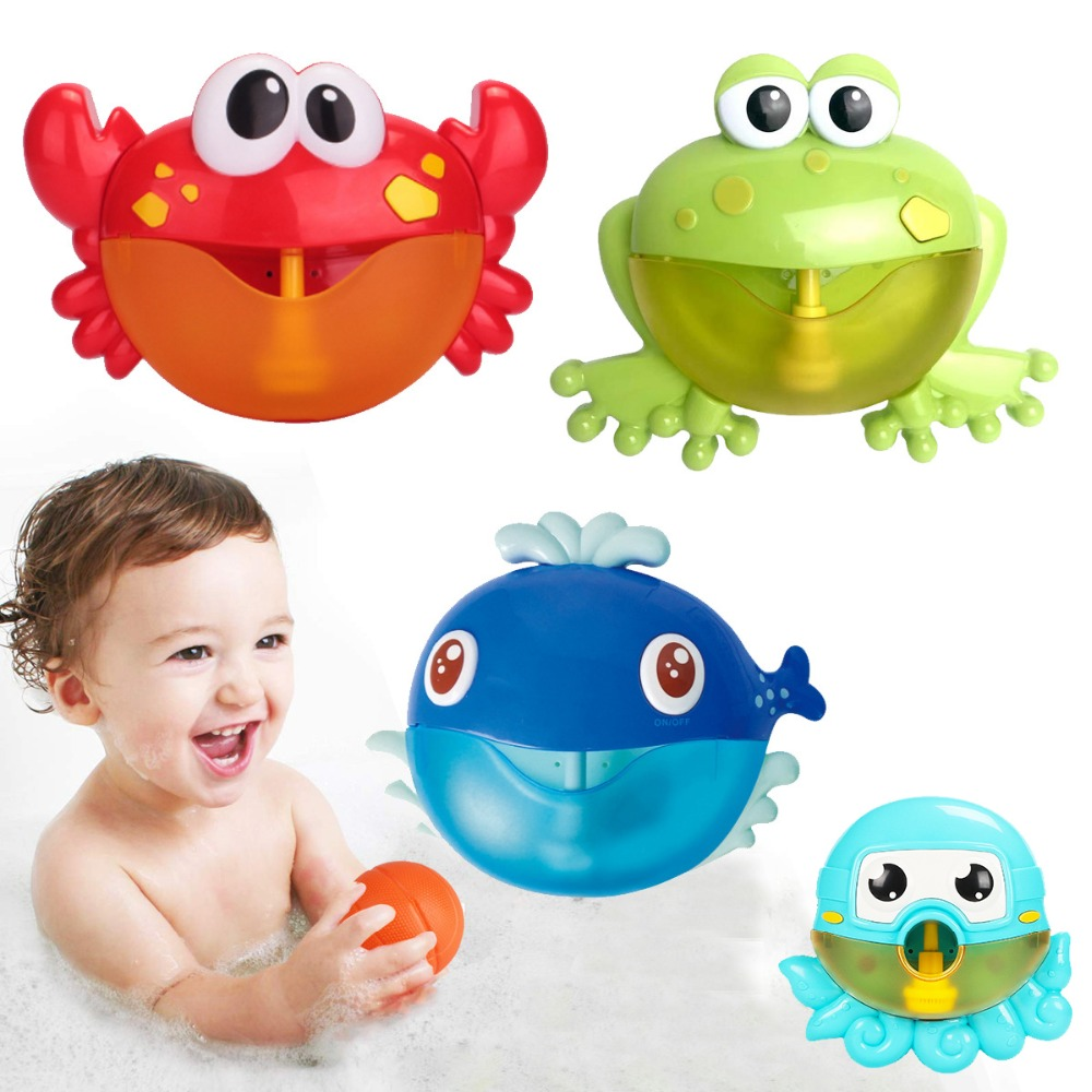 Dropshipping Bubble Machine Crabs Frog Music Kids Bath Toy Bathtub Soap Automatic Bubble Maker Baby Bathroom Toy for ChildrenDropshipping Bubble Machine Crabs Frog Music Kids Bath Toy Bathtub Soap Automatic Bubble Maker Baby Bathroom Toy for Children