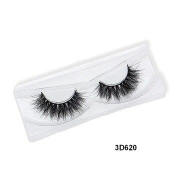 False Eyelashes 3D Mink Eyelash Real Mink Handmade Crossing Lashes Individual Strip Thick Lash Fake Eyelashes  3D620