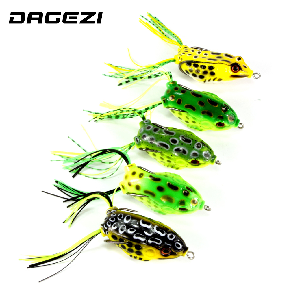Dagezi 10 size fishing lure lifelike topwater fishing lure for Best hooks for bass fishing