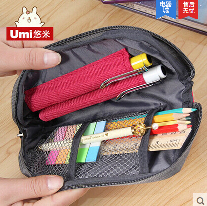 korean premium creative durable canvas pencil case high quality large capacity pencil bag simple style hot sale pencil case korean stationery creative simple large capacity pu zipper pencil case cute student supplies high quality waterproof