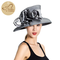 Promotion Hot Selling Casual Polyester Hat for Woman PP Braid Hat Wedding Hat Church Hat S10 1018