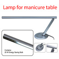 silver metallic  20w T5 tulb CE professional nail tools nail salon desk table lamp for nail art manicure
