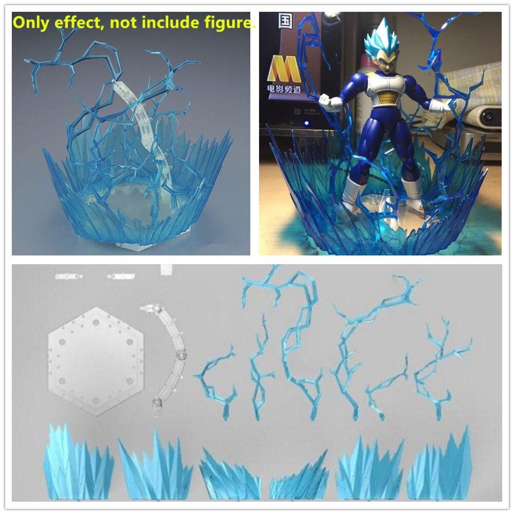 Bandai FIGURE-montée foudre Aura effet pour SHF Dragon Ball Son Goku végéta Saint Seiya modèle bleu couleur NB011