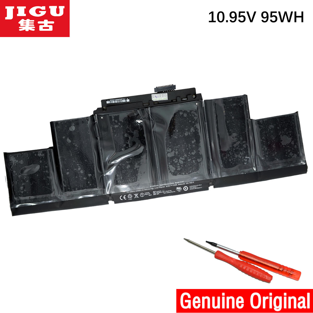 JIGU Original <font><b>Batterie</b></font> für Apple A1417 A1398 (2012 Frühen-2013 Version) für <font><b>MacBook</b></font> <font><b>Pro</b></font> Retina <font><b>15</b></font>