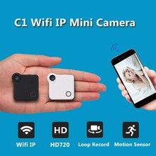 IP Wifi Mini Cámara C1 720 P HD Micro Cámara H.264 Cuerpo de Cámara Inalámbrica Mini DV Cámara de Vídeo de Detección de movimiento de Voz videocámara