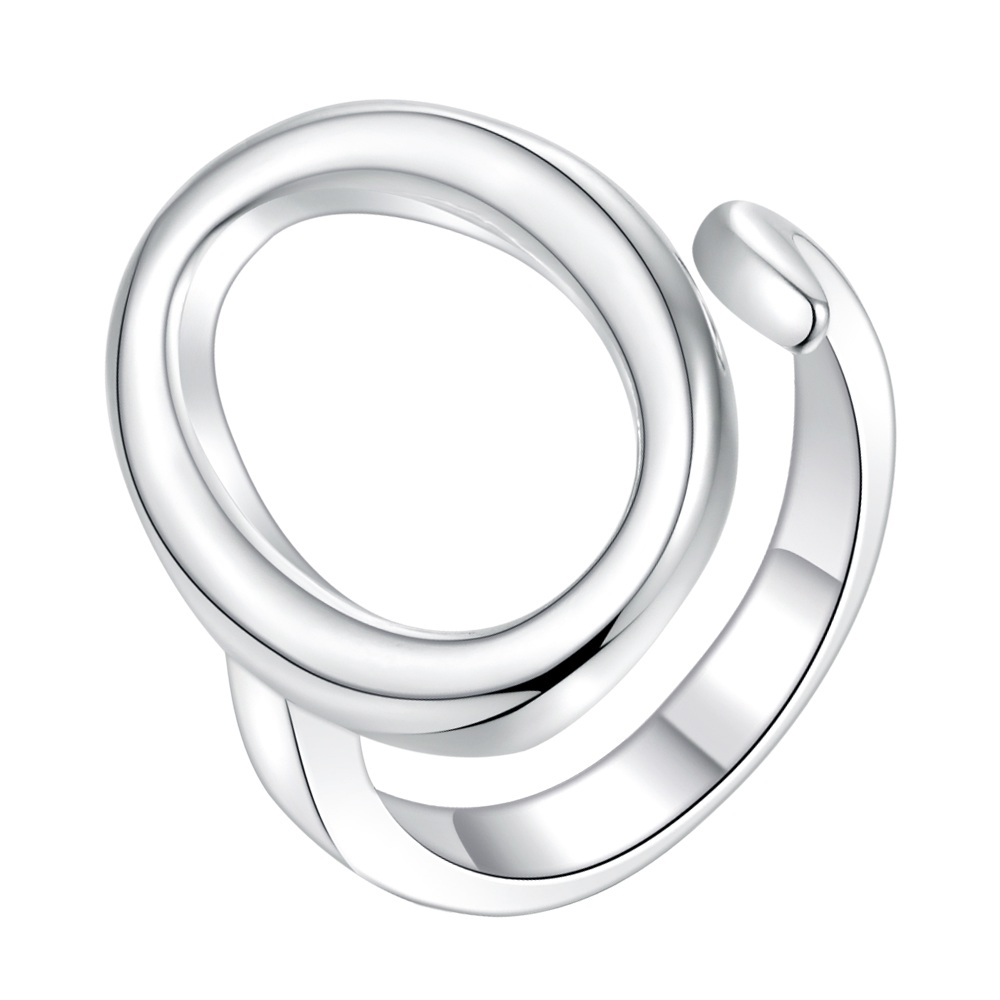 round round shiny Silver Ring Fine Fashion Women&Men Gift Silver Jewelry for Women, /PCBBJPVR ZFCUZKEO