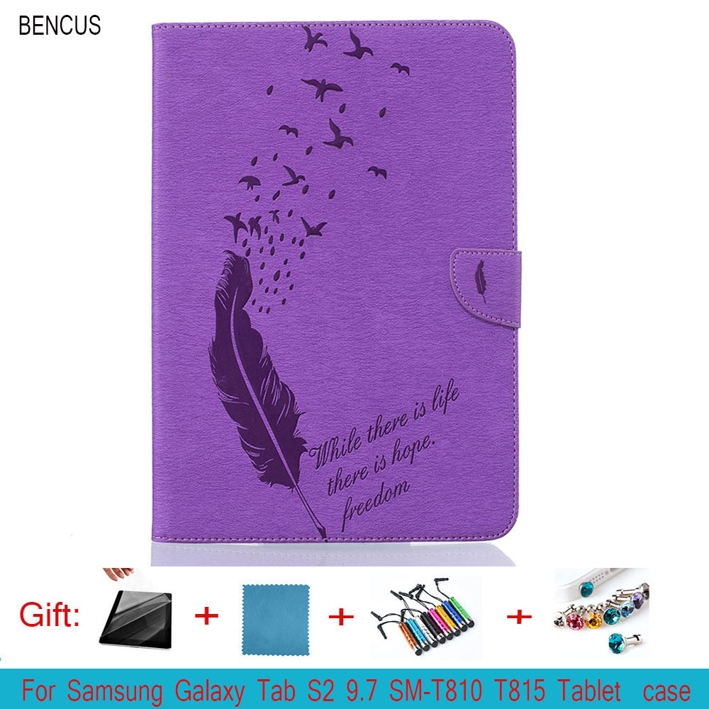 BENCUS For samsung tab s2 9.7 case t810 Flip PU Leather Cases cover For Samsung Galaxy Tab S2 9.7inch SM-T810 T815 Tablet Y4D33D