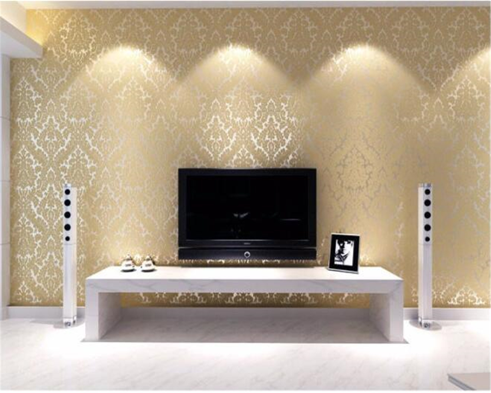 Beibehang tapety room wallpaper landscape European Damascus flocked 3d wallpaper living room bedroom TV background wallpaper 3d book knowledge power channel creative 3d large mural wallpaper 3d bedroom living room tv backdrop painting wallpaper