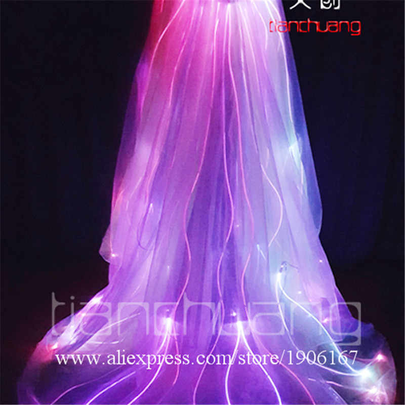 Programmable Fiber Optic Led Light Up Cloak Full Color Luminous Stage Performance Costume Props Party