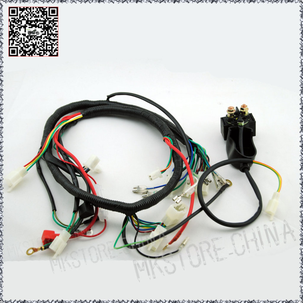 250cc solenoid quad wiring harness 200 250cc chinese electric start for loncin zongshen ducar lifan [ 1000 x 1000 Pixel ]