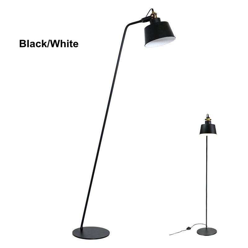 Post modern Design Floor Lamp Black White Metal Stand Light for ...