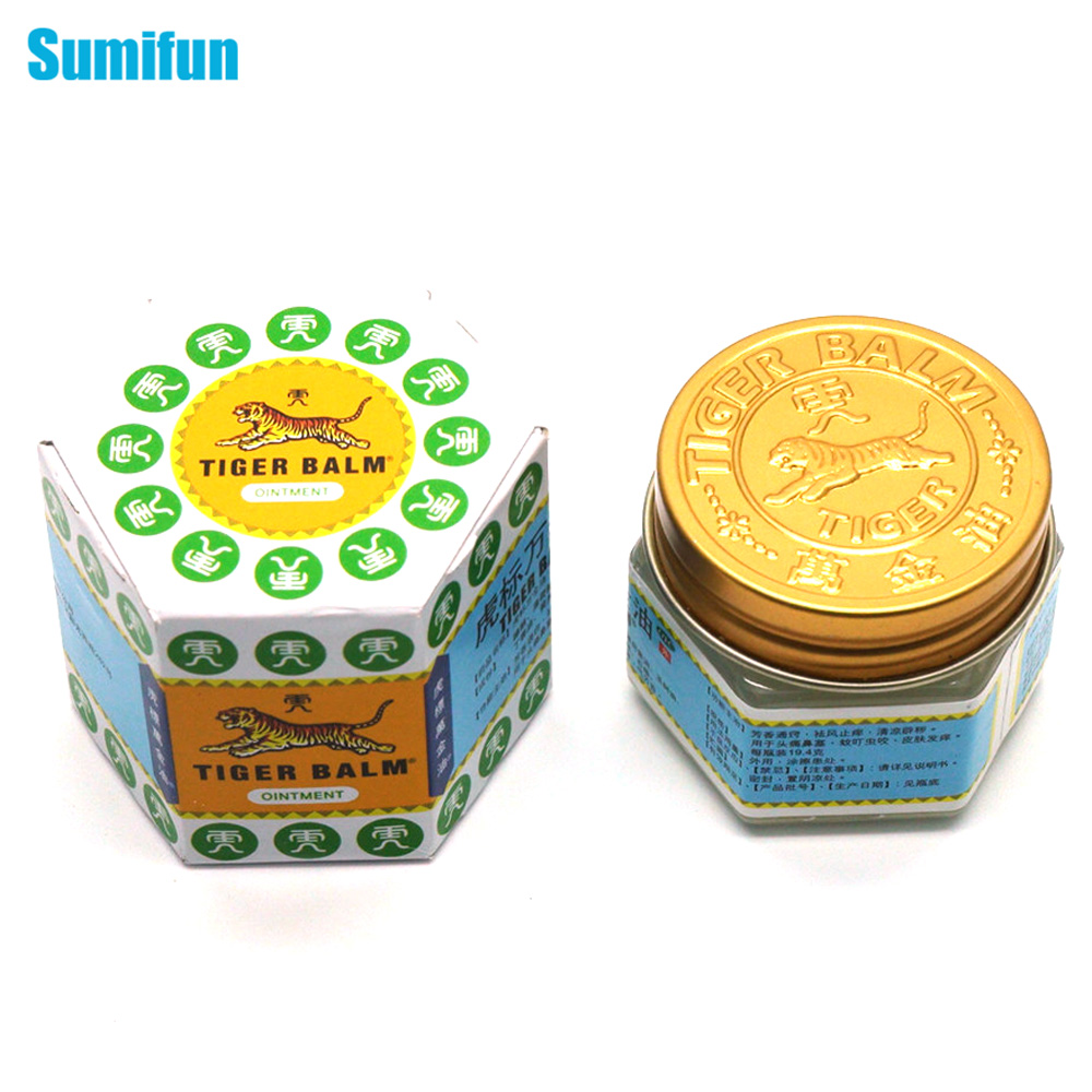 Special Offer 100% Original 19.4g White Tiger Balm Ointment Thailand Painkiller Muscle Pain Relief Soothe itch/Carsickness C102