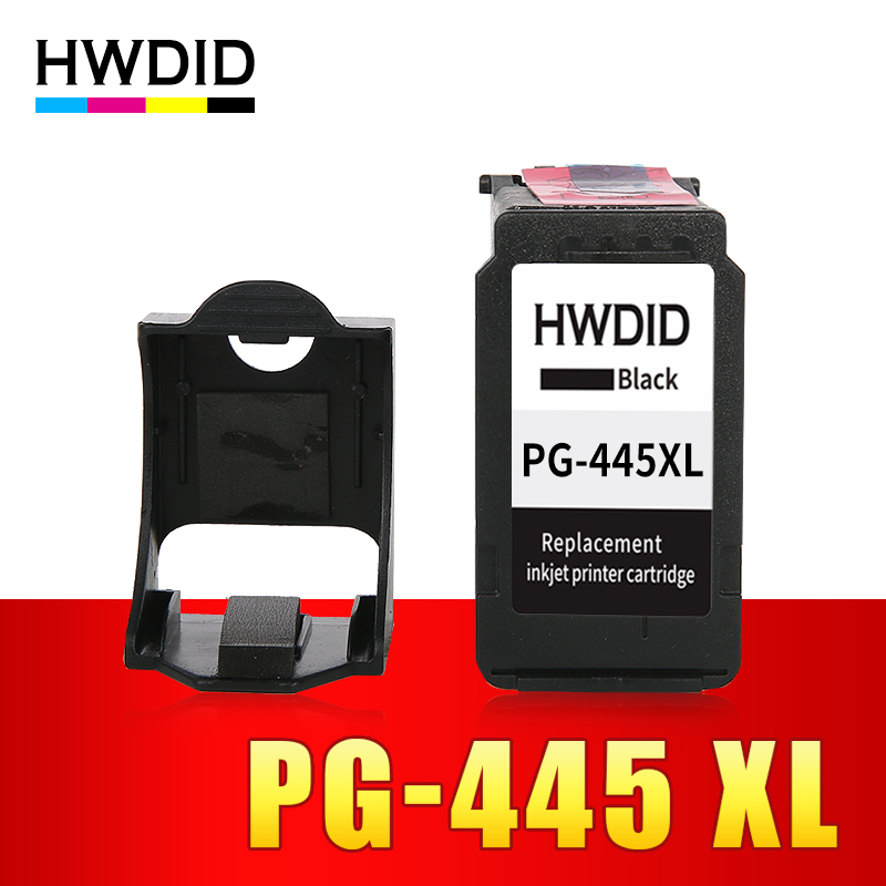 HWDID pg-445 PG 445 XL Ink Cartridge Replacement For Canon PG 445 PG-445 PG-445XL Compatible for MX494 MG 2440 2540 2940 IP445