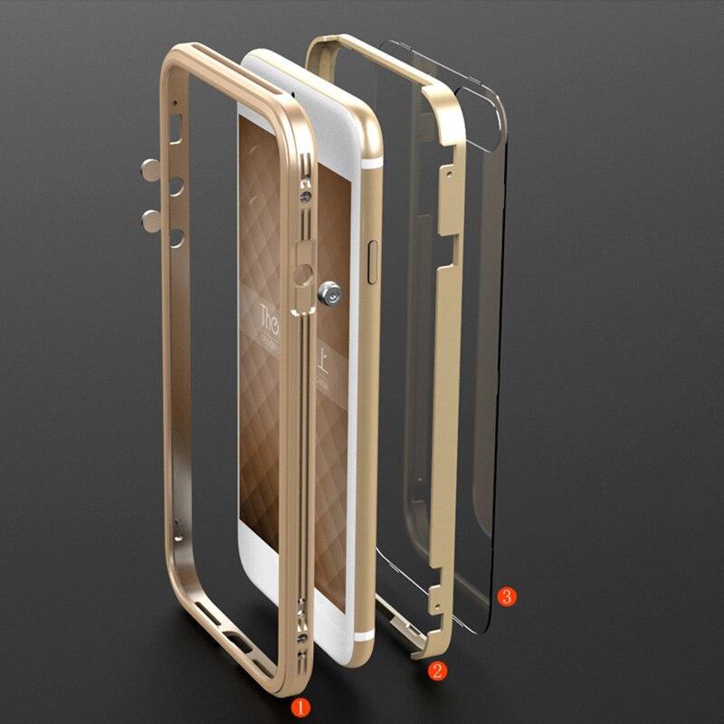 imágenes para Bobyt marca case metal de parachoques para el iphone 7 transparente pc marco de aluminio de la contraportada protectora para iphone 7 plus teléfono casos