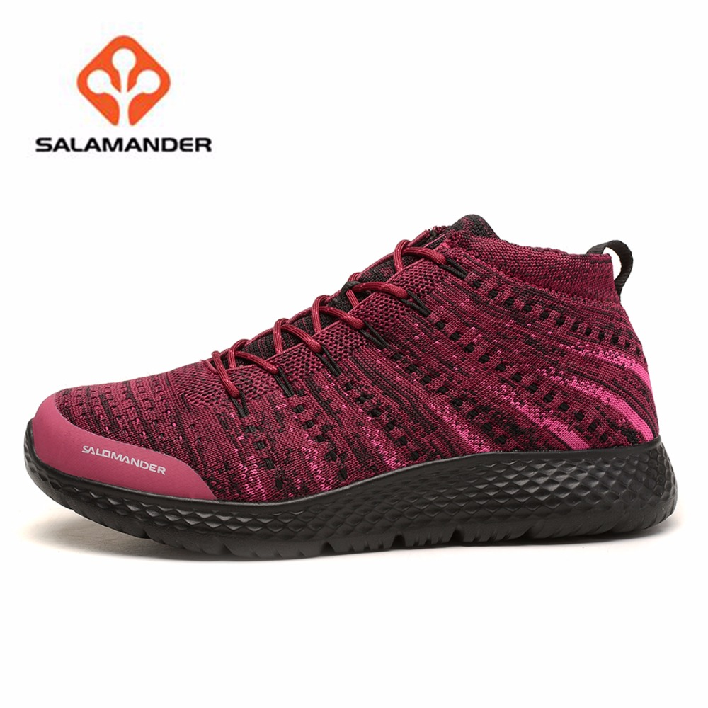 SALAMANDER Women's Outdoor Sports Running Sneakers Shoes For Women Jogging Running Sneaker Shoes Zapatillas Deportivas Mujer new style men running shoes outdoor jogging training shoes sports sneakers men spring autumn zapatillas deportivas trainers