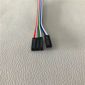 Image 2 - PC de bureau ordinateur châssis commutateur réinitialiser bouton disque dur statut alimentation LED câble LED 65cm