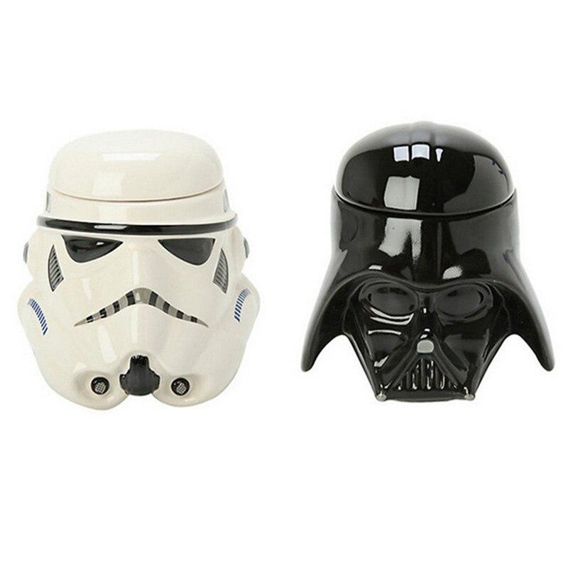 High quality 1Piece Creative Star Wars Darth Vader Helmet Mug Stormtrooper Mug 3D Ceramic Mug with