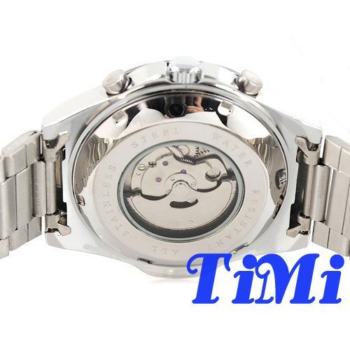 wholesale  White Military Dial Mens Mechanical Selfwind Date Week 30ATM Wrsit Watch HOTSELL