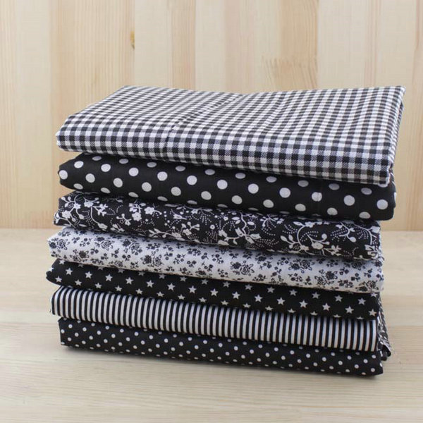 50cm*150cm Black 100% Cotton Fabric for Sewing Patchwork Telas Tilda Doll Cloth DIY Crafts Material 2