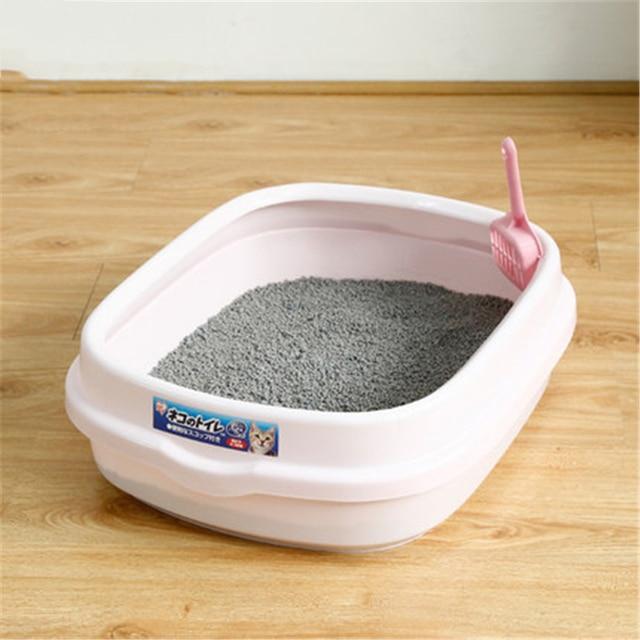 Cat Potty Training Litter Scoop Scooper Sand Box Toilet