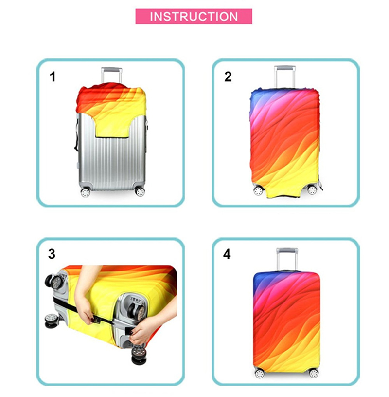 Thicker Travel Luggage Protective Cover Suitcase Case Travel Accessories Elastic Luggage Dust Cover Apply to 18''-32'' Suitcase 23