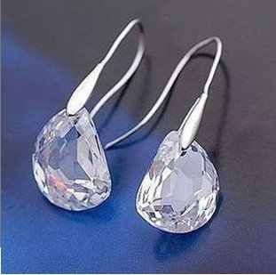 Simple elegant crystal earrings for women fashion jewelry  4ED394