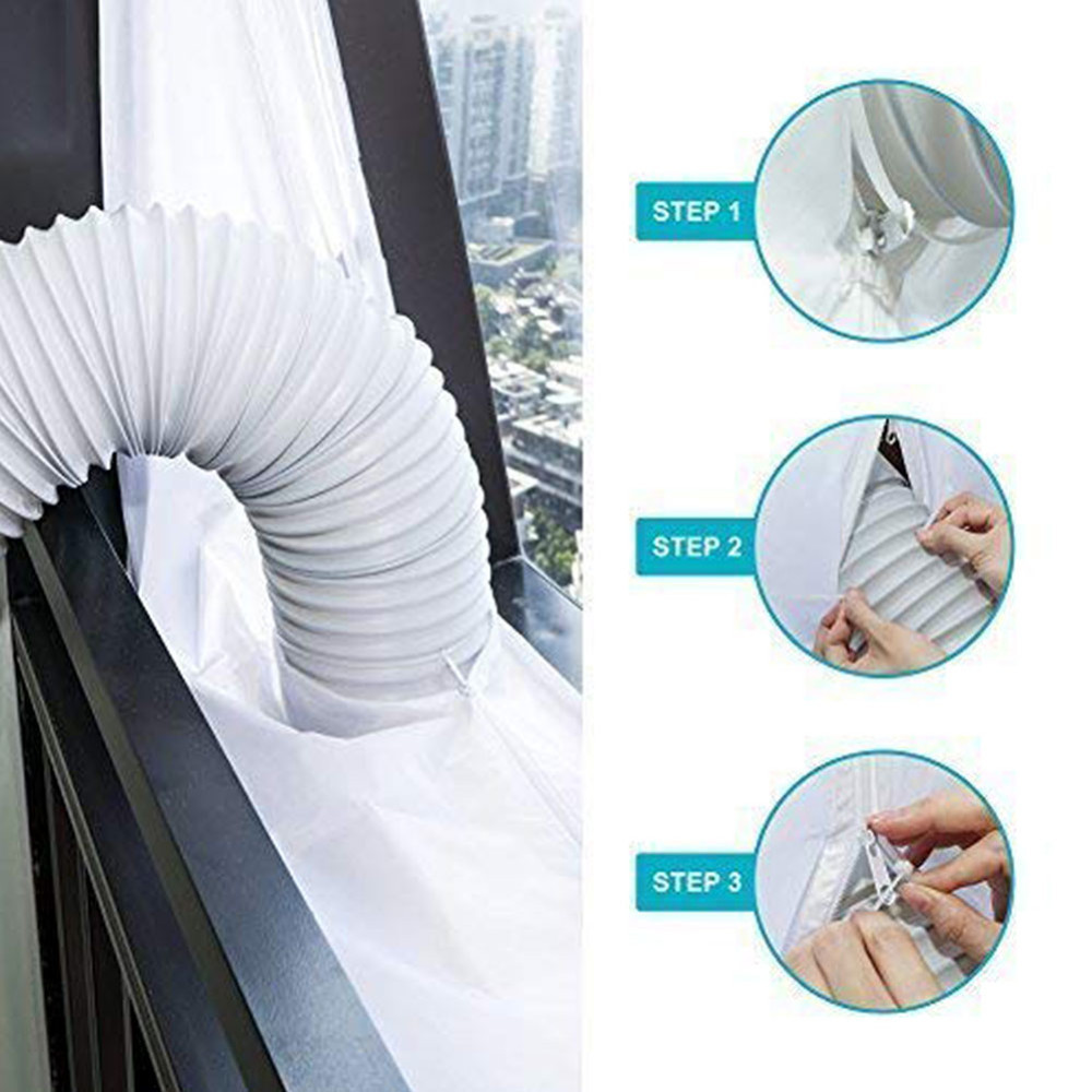 New Airlock Sealing Plate White Universal 3M/4M/5.6M/210*90CM Mobile Air Conditioning Soft Cloth Window Frame Sealing Cloth B4