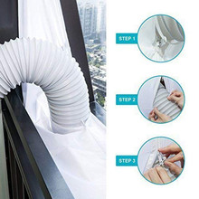 New Airlock Sealing Plate White Universal 3M/4M/5.6M/210*90CM Mobile Air Conditioning Soft Cloth Window Frame B4