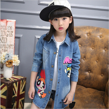 2017 New Autumn and Spring Children Clothing Child Clothes Baby Girl Outerwear Coat Girl's Jackets Denim Kids Tops Jeans Wear Q2