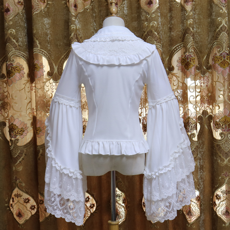 2018 Polyester Regular Full Spring New Turteneck Lace Shirt Perspective Sexy Hook Flower Hollowed out Women's Bottoming shirt - 4